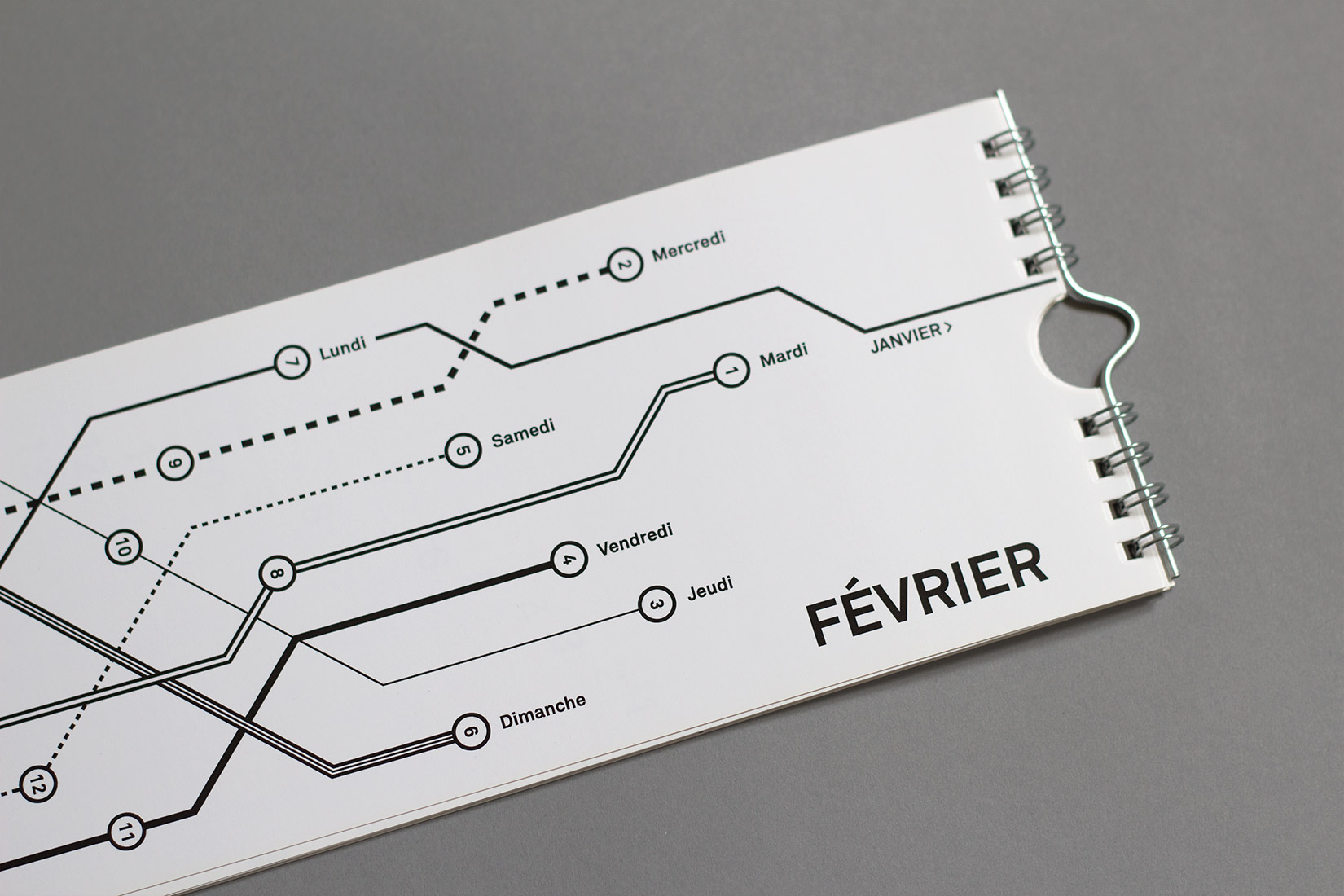 Calendar Typography Map : Typographic calendar yan vuillème