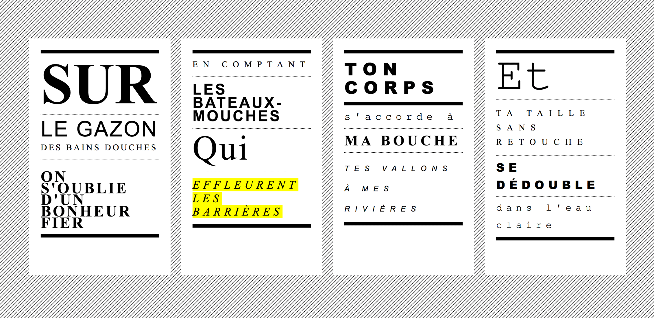 Compartiment fumeurs, typography website, Arial, Times New Roman, Courier New, music