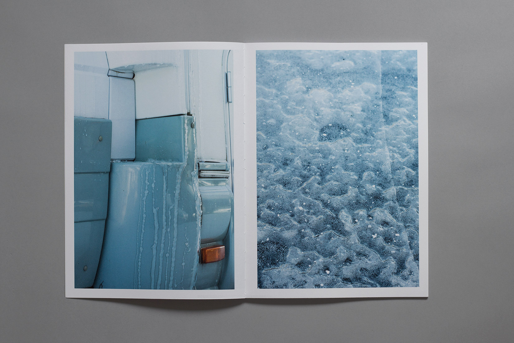 Les Brenets - Camping-car, ice, frozen lake, winter, book, photography
