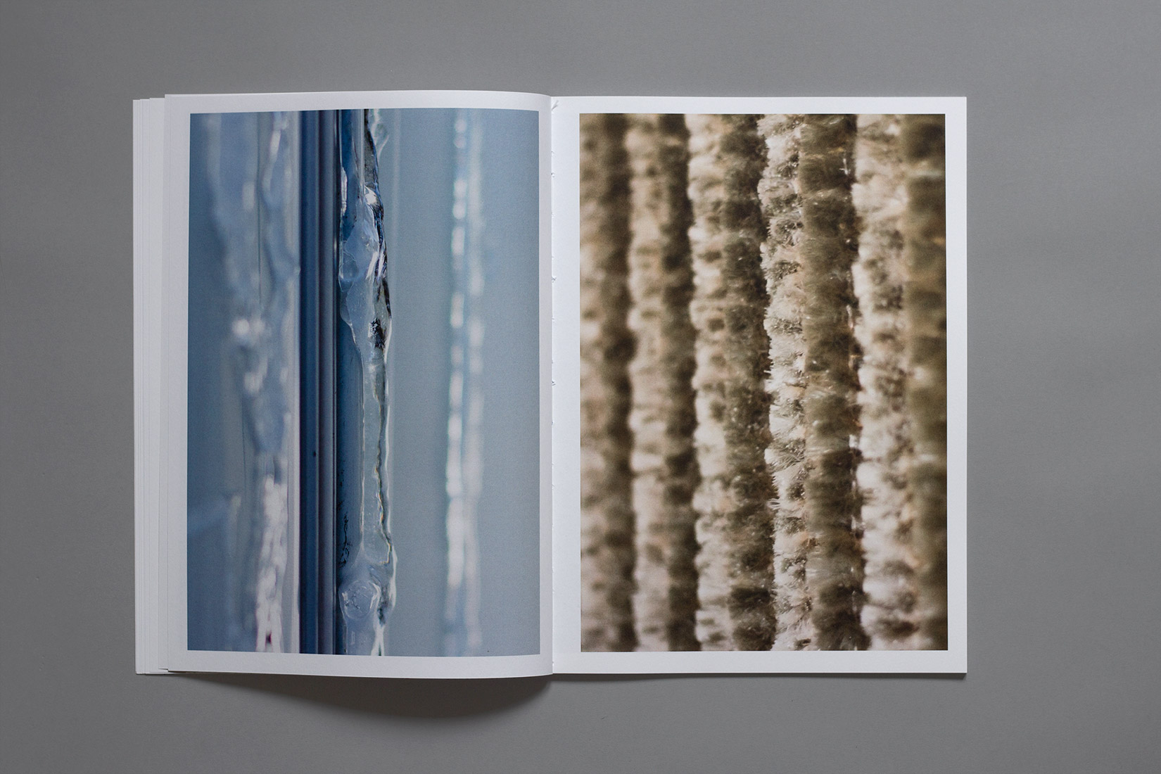 Les Brenets - Camping, ice, curtains, details, book, photography