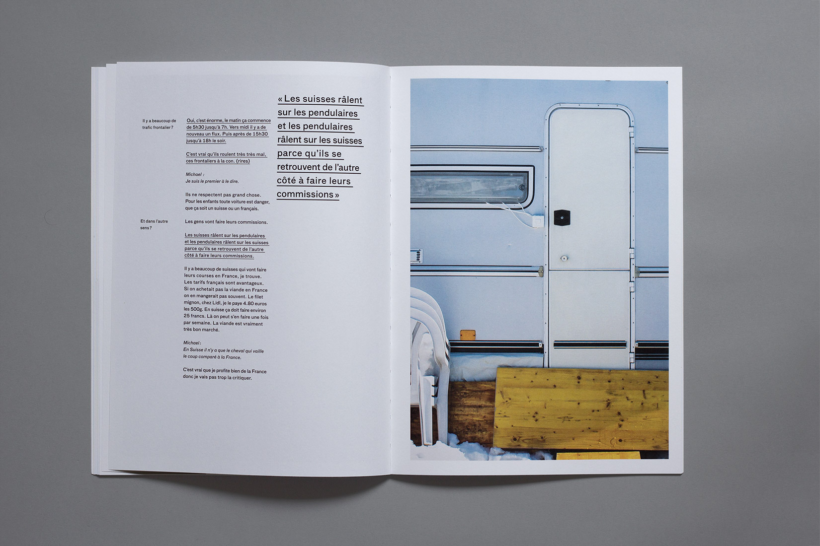 diploma, graphic designer, book, Les Brenets, photography, camping, door, caravan