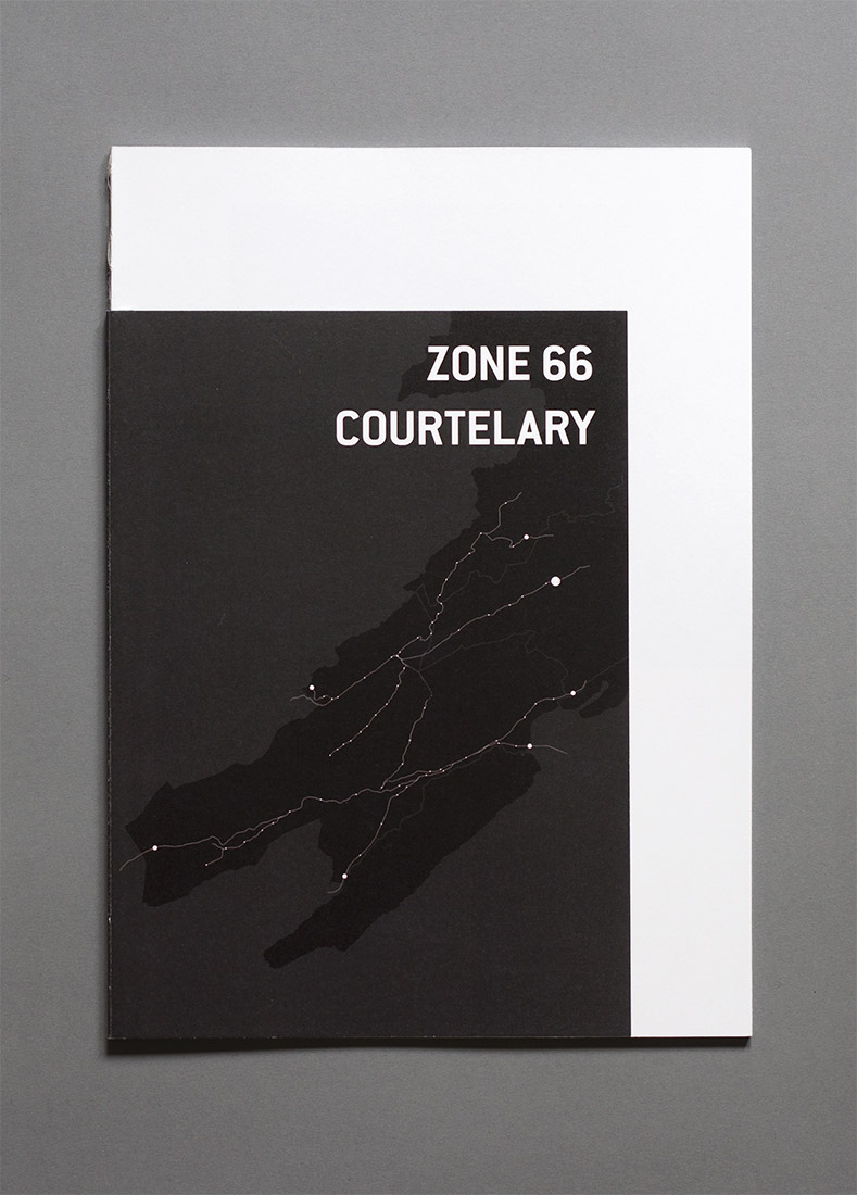 Courtelary - diploma, graphic design, book, zone 66, cover, map