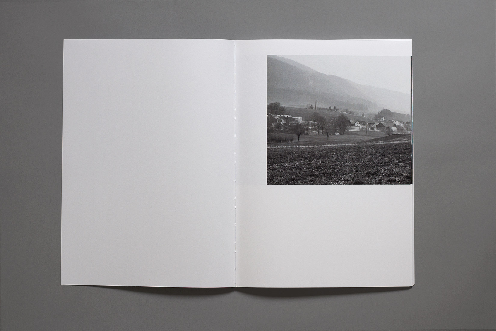 Courtelary, field, countryside, black and white, book, photography
