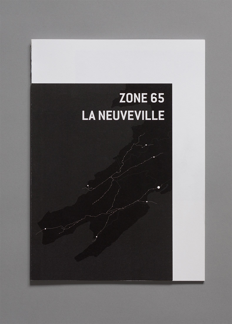 La Neuveville, diploma, graphic design, book, zone 65, cover, map