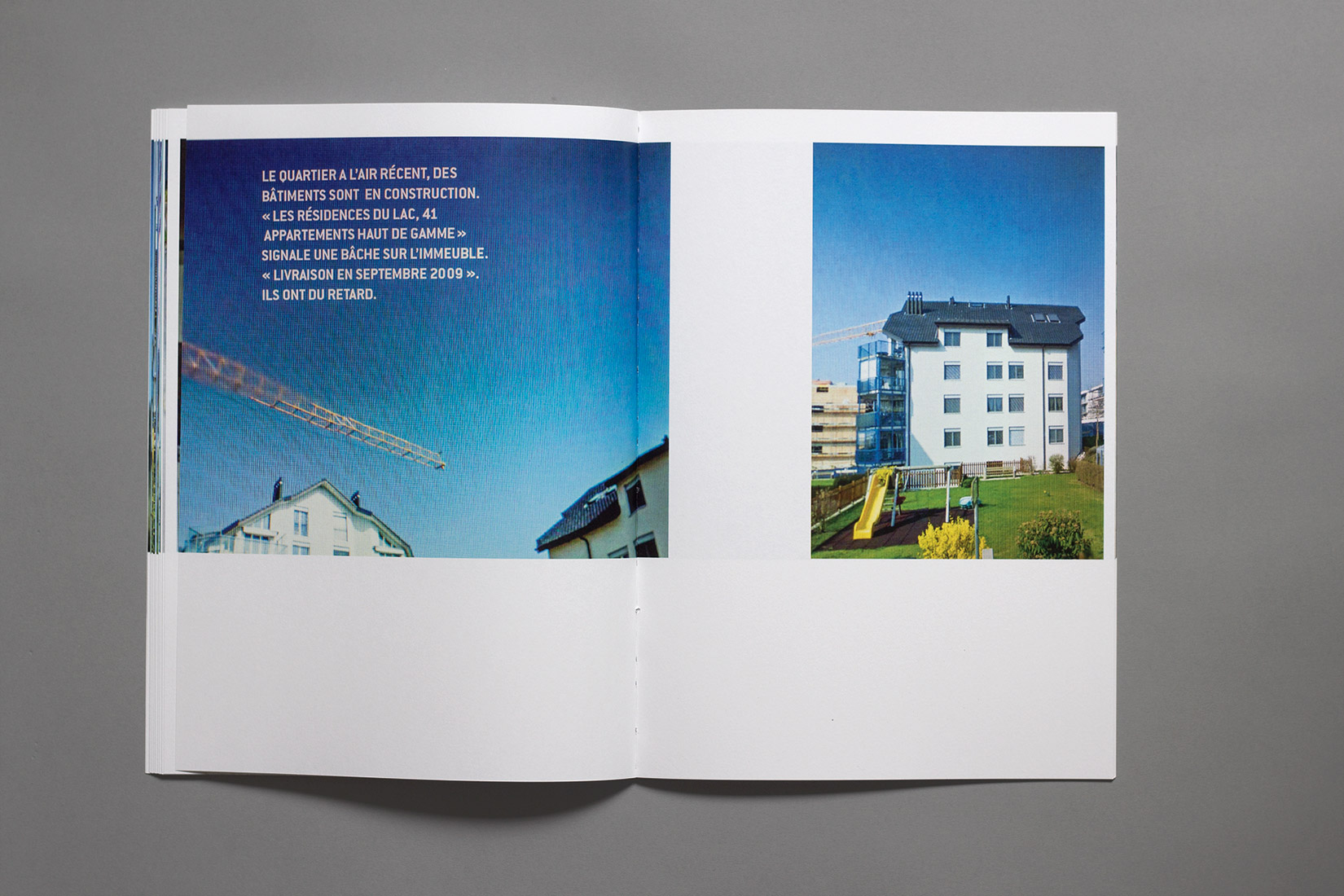 La Neuveville, construction crane, book, Google Street View, photography