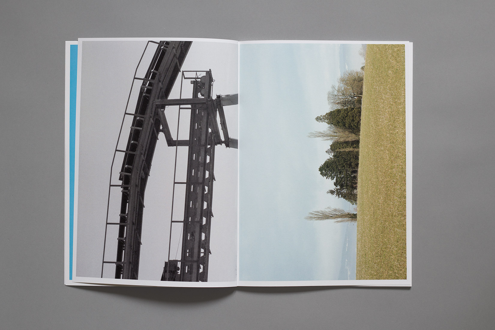 Zihlbrücke, diploma, book, graphic design, factory, Buhler Marin, fields, trees