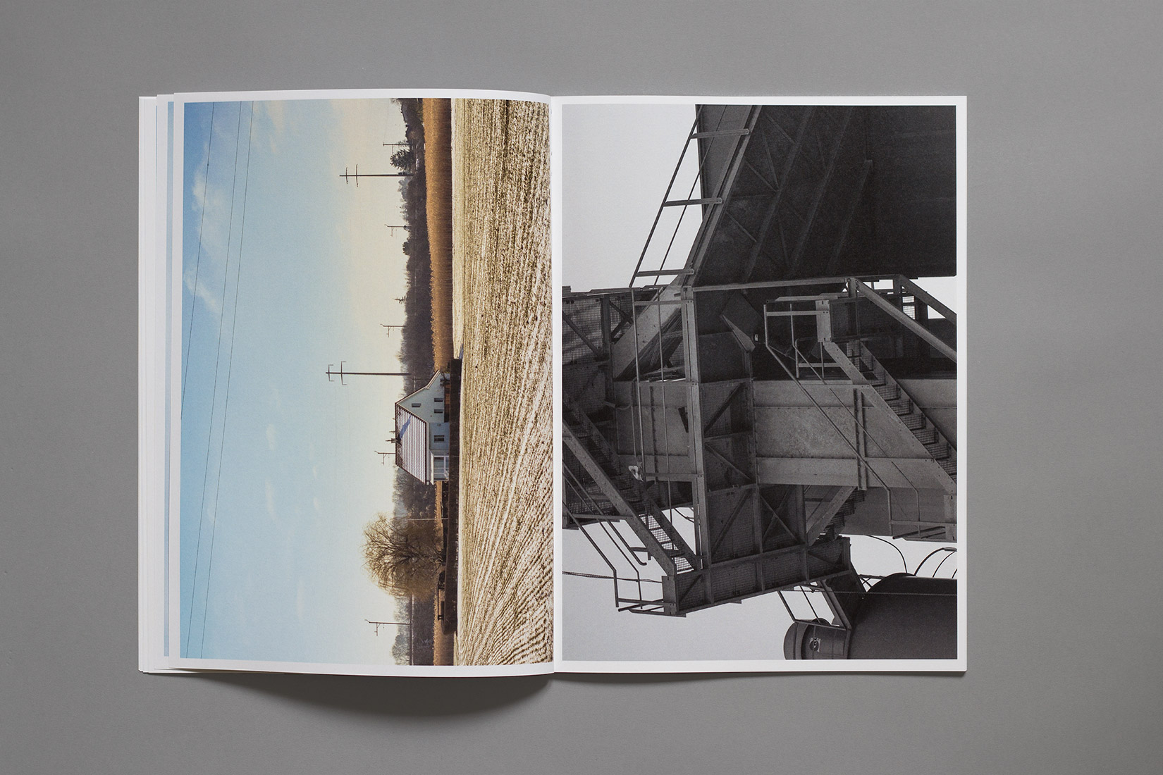 diploma, graphic design, book, Zihlbrücke, photography, house, field, factory