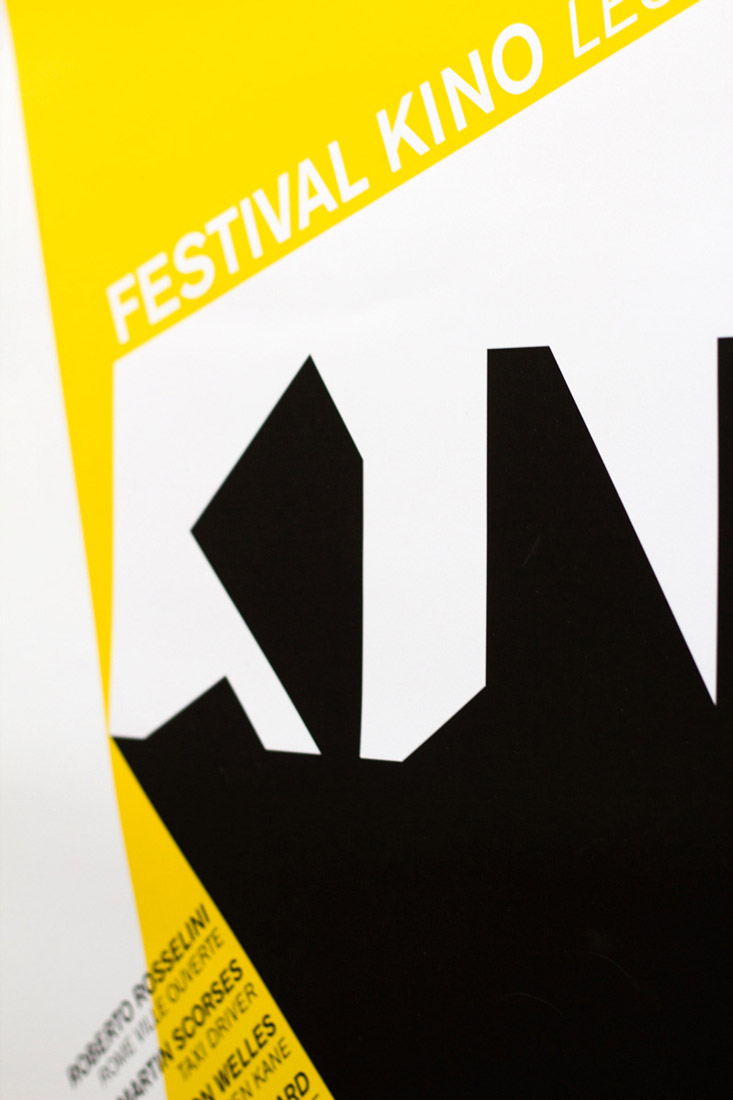 Kino festival, poster, graphic design, detail, typography, letters