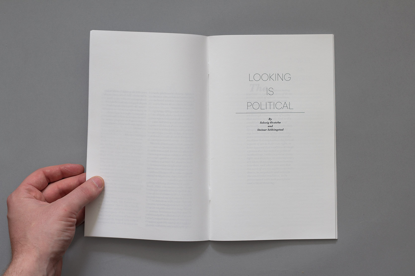 Mise en page, titre, Nairy Baghramian, Looking is political