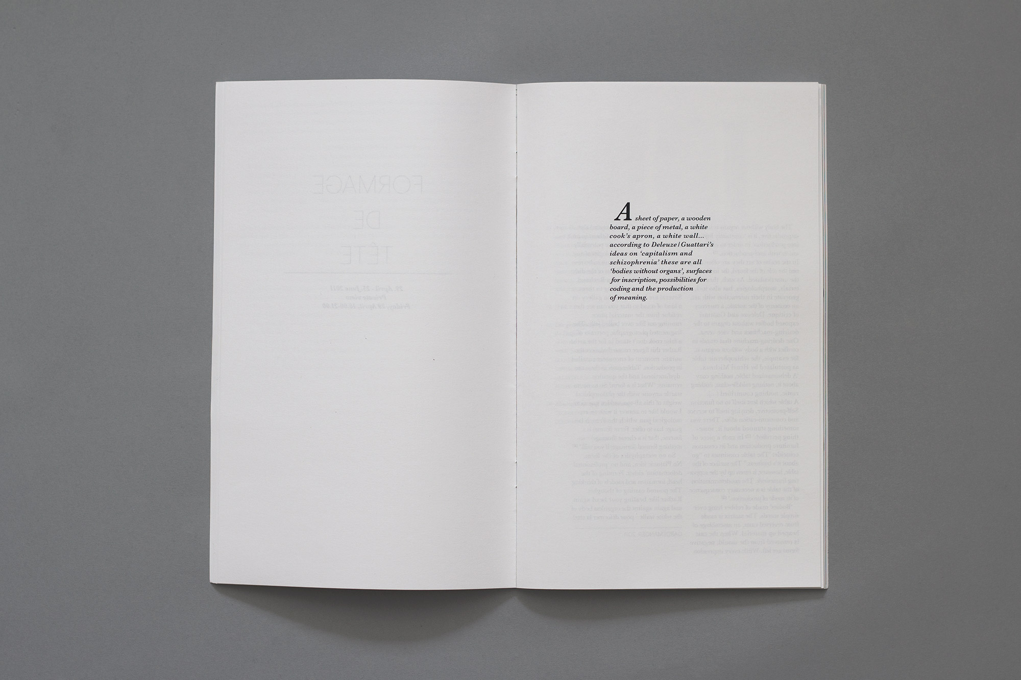 White apron meaning - Artist Book Nairy Baghramian