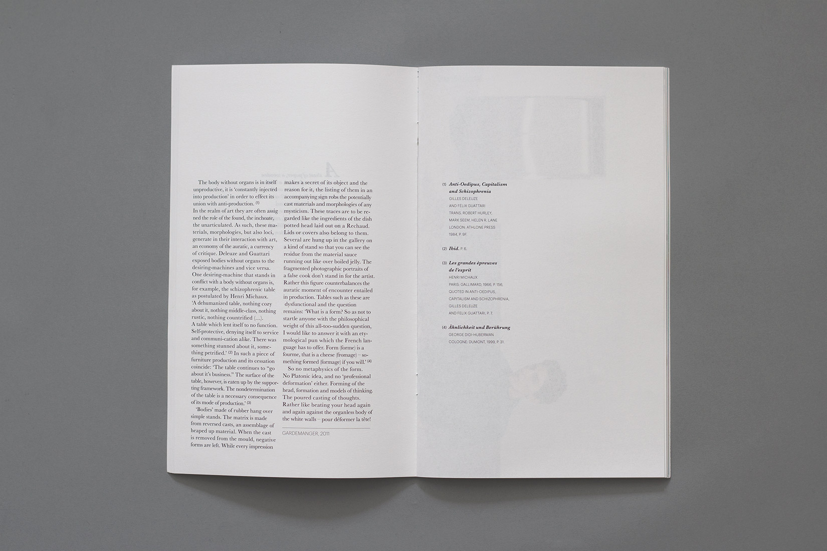Mise en page, livre d'artiste, Nairy Baghramian, typographie