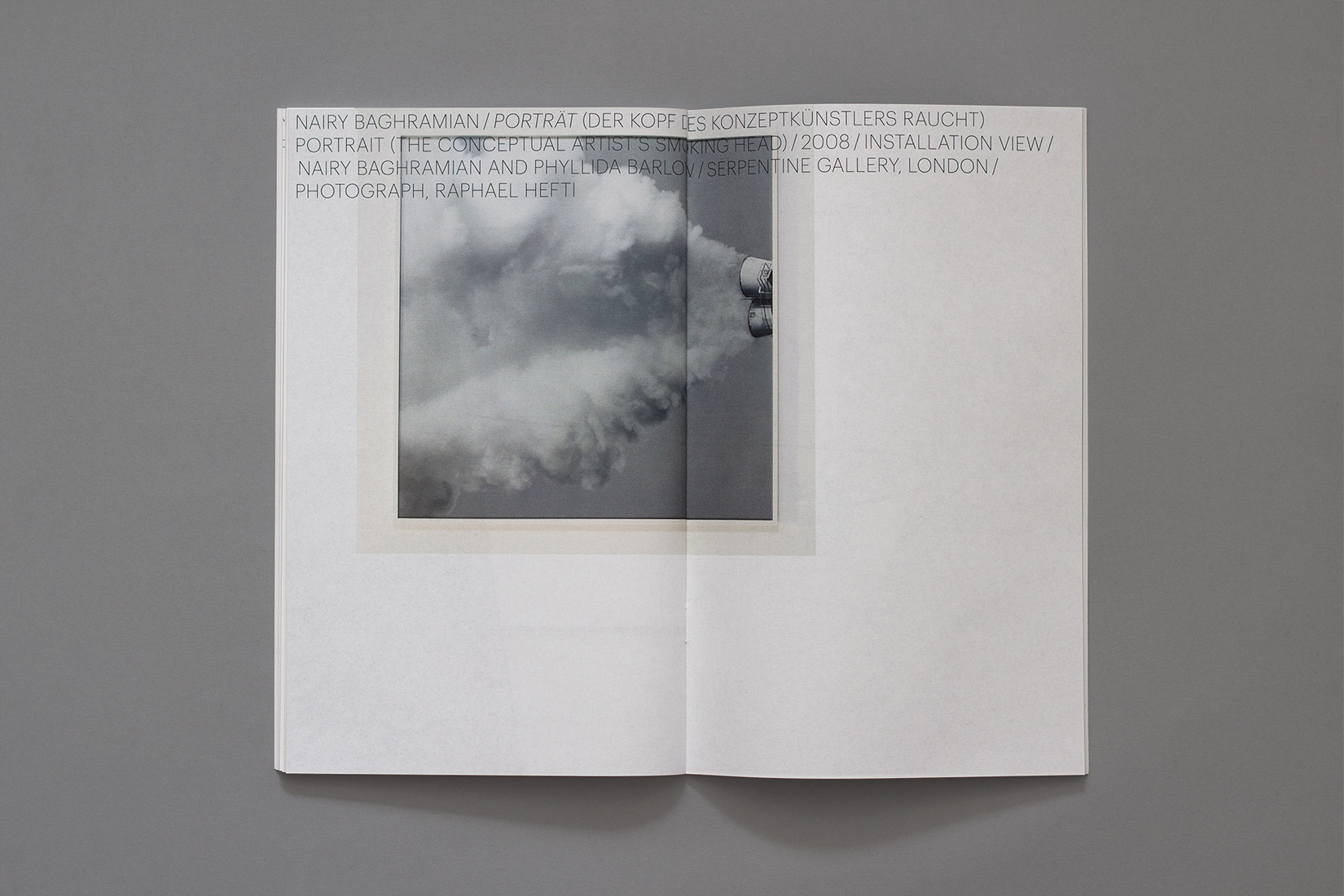 Mise en page, typo, photo, Portrait (The Conceptual Artist's Smoking Head)