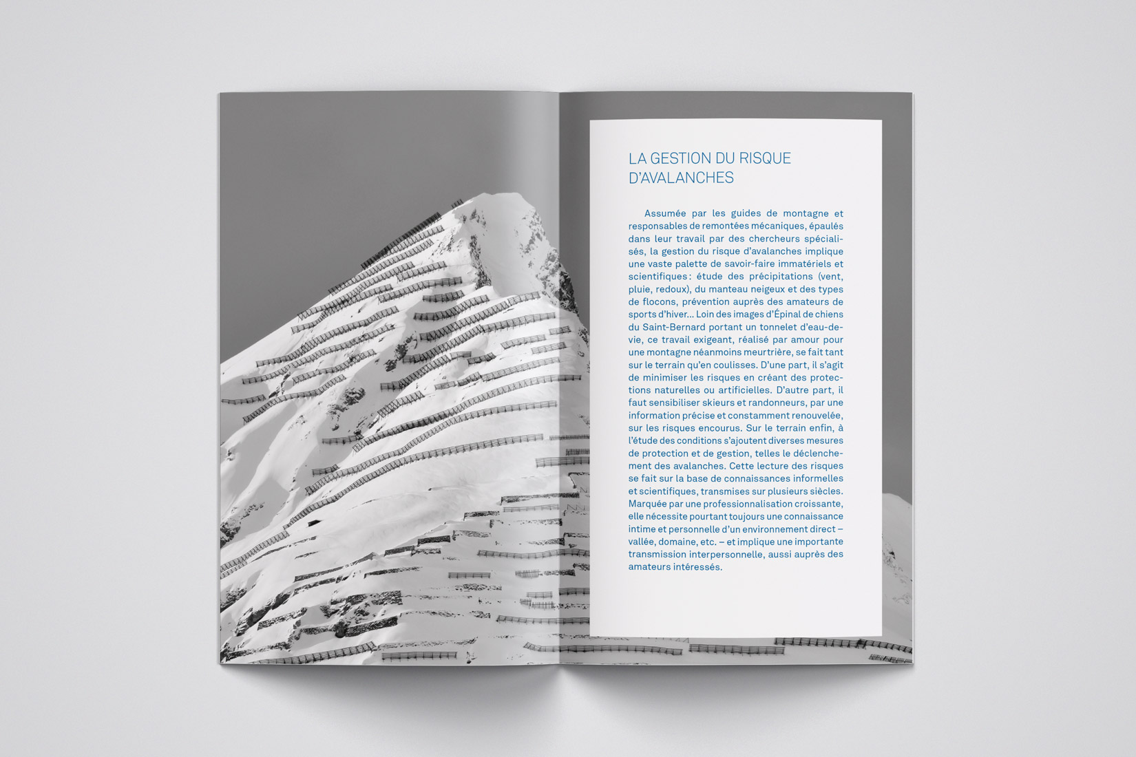Mise en page, brochure, avalanches