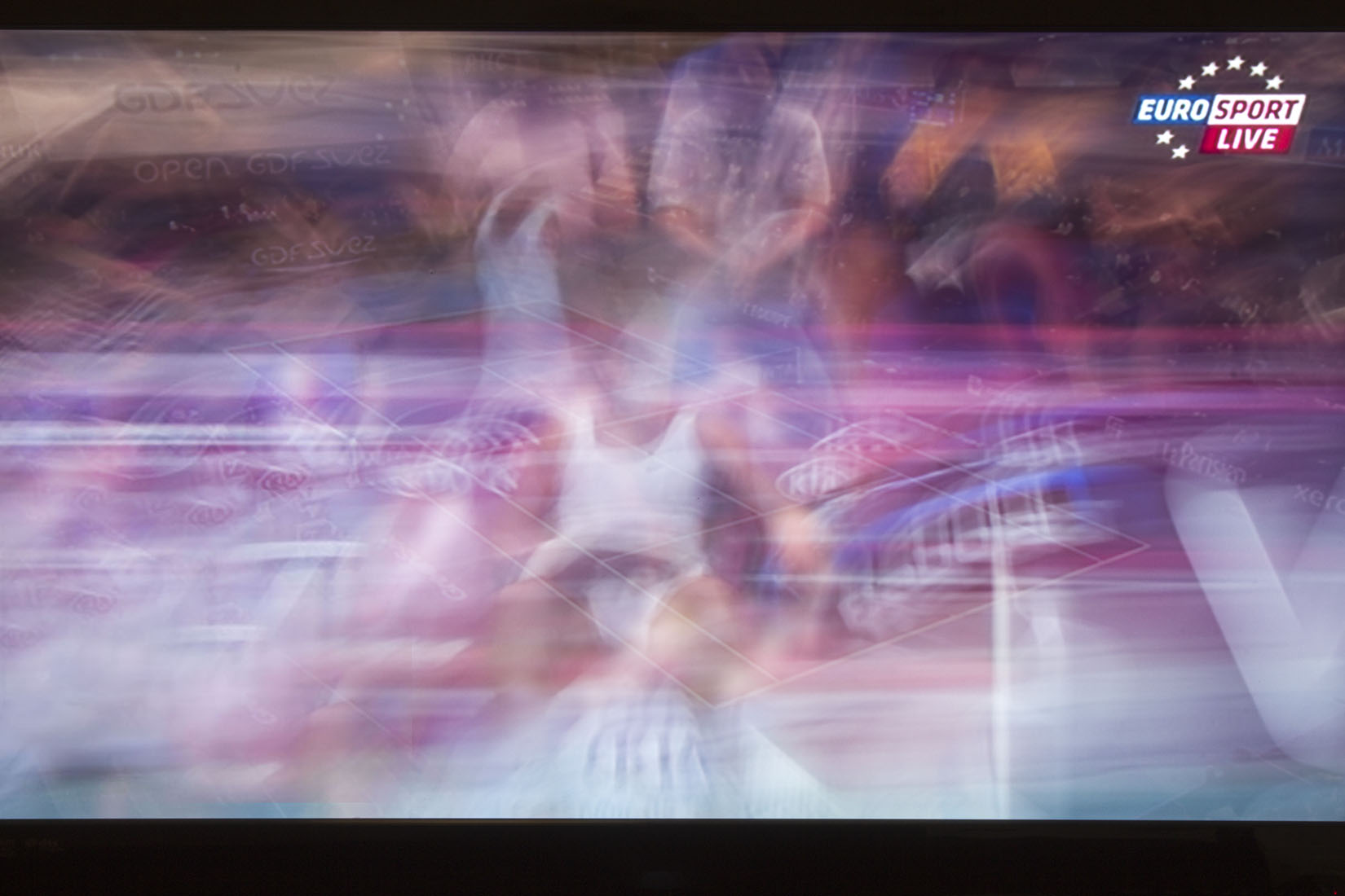 Television, Eurosport Live, tennis, abstraction, movement