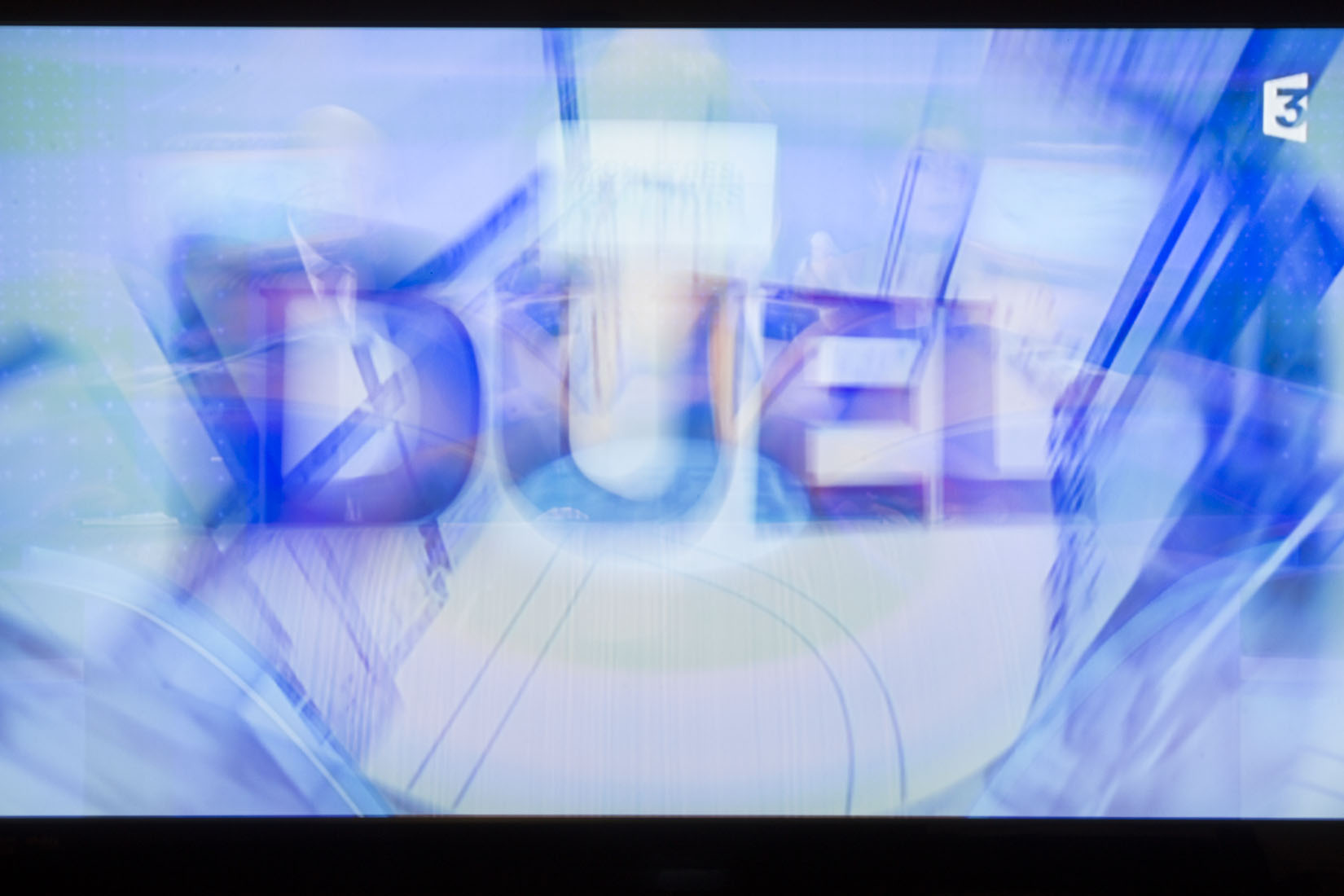 Television, France 3, Duel, Typeface, overlay