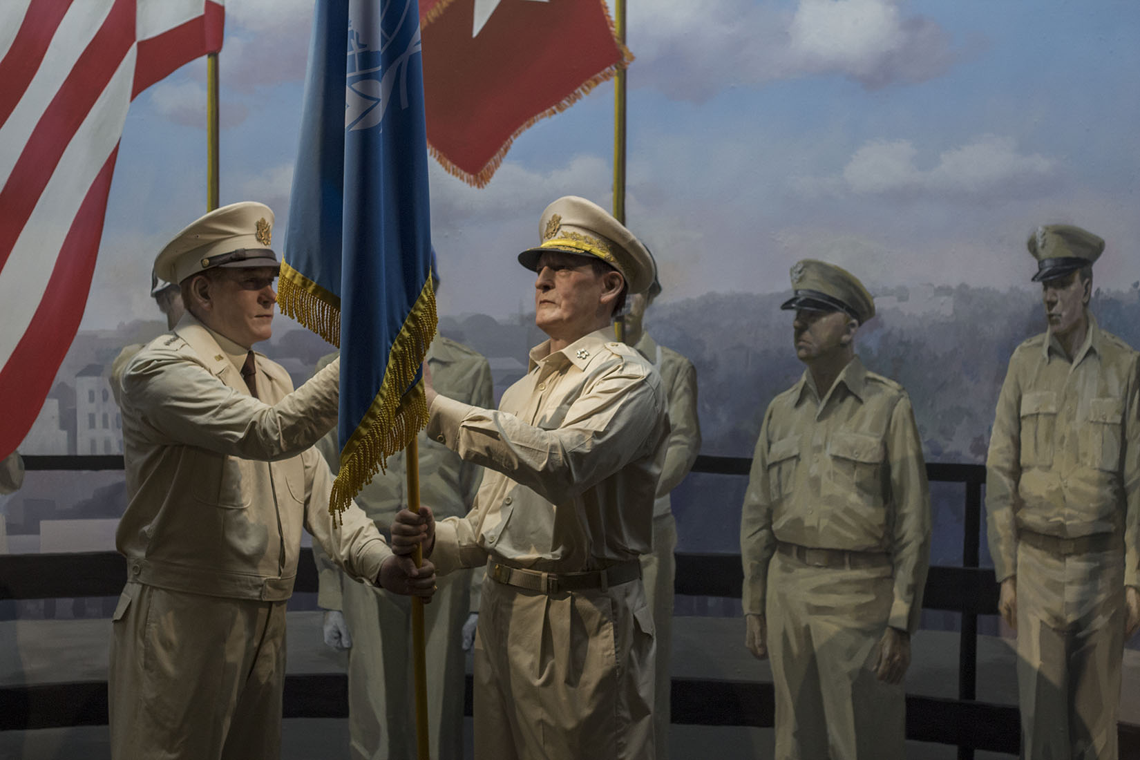 Officers of the United Nations, uniform, flag, end of the Korean War, armistice, soldiers