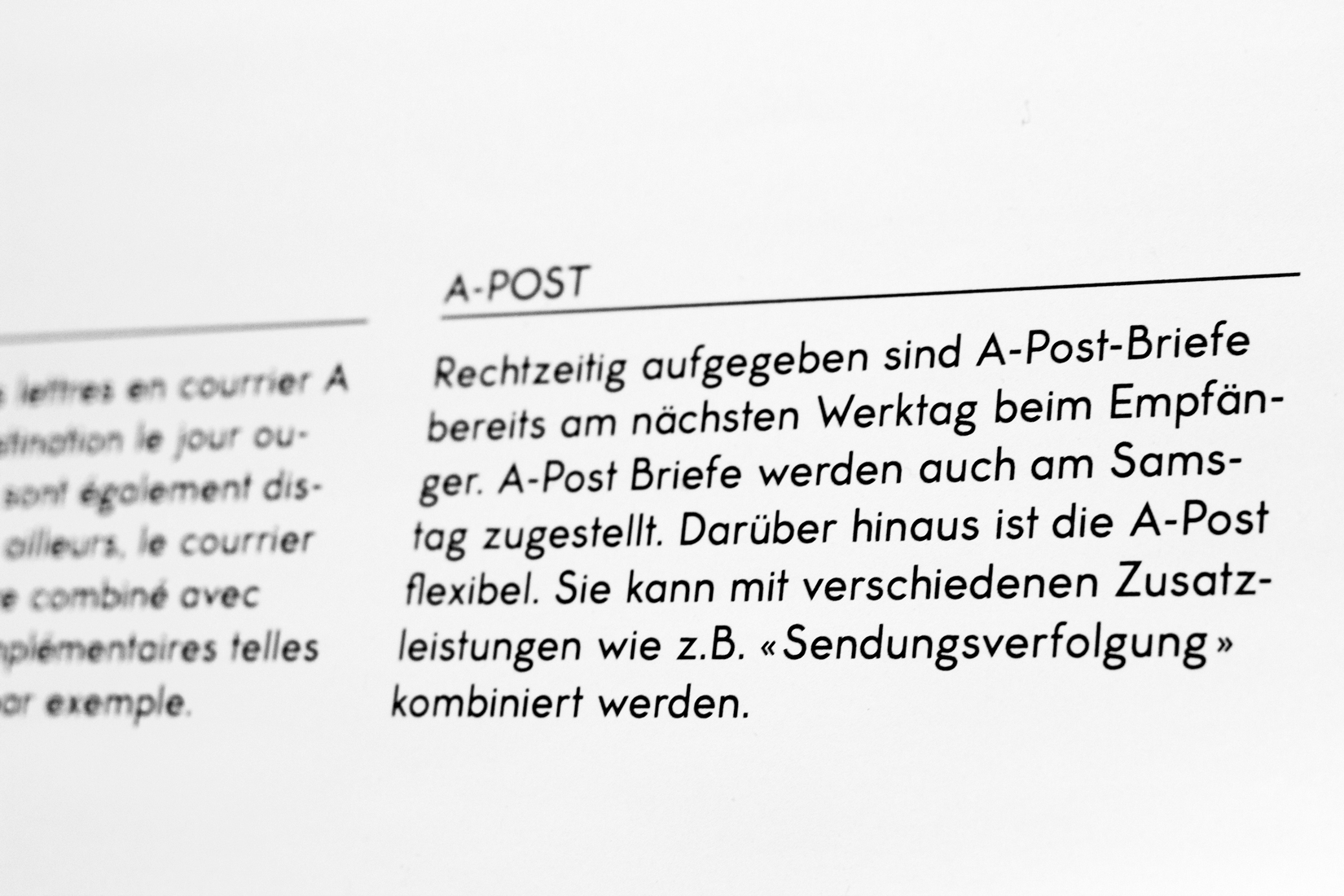 Postdienst Regular, typography, typeface, sans serif, detail