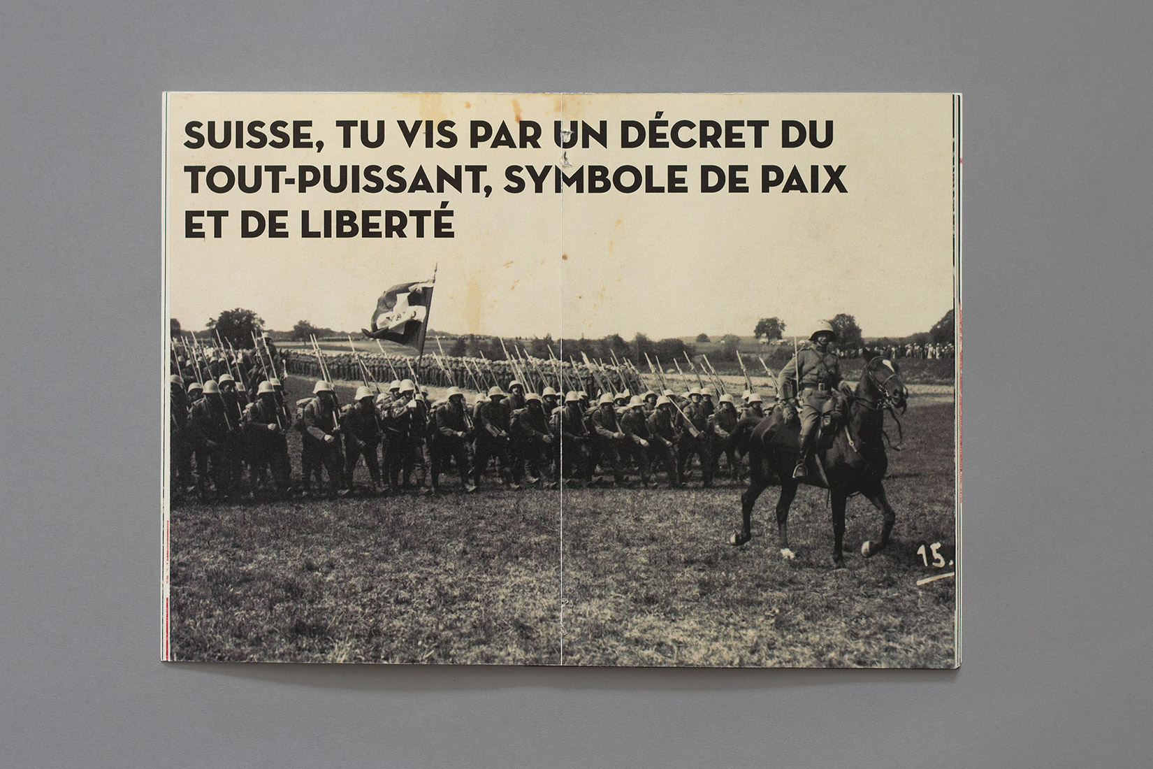 Manual for the perfect little soldier, army, horse, swiss flag, battlefield, Switzerland, tu vis par un décret du tout-puissant, symbole de paix et de liberté