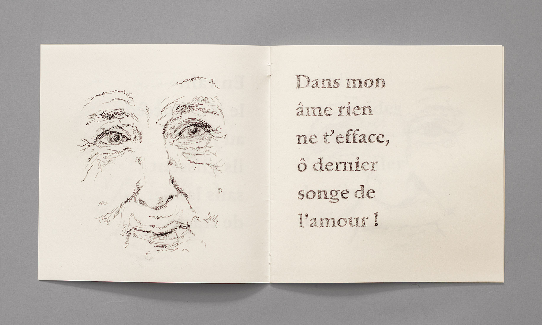 Elderly person, drawing, face, expression, characteristics, pencil, wrinkles, age, Alphonse de Lamartine, soul, last dream of love.