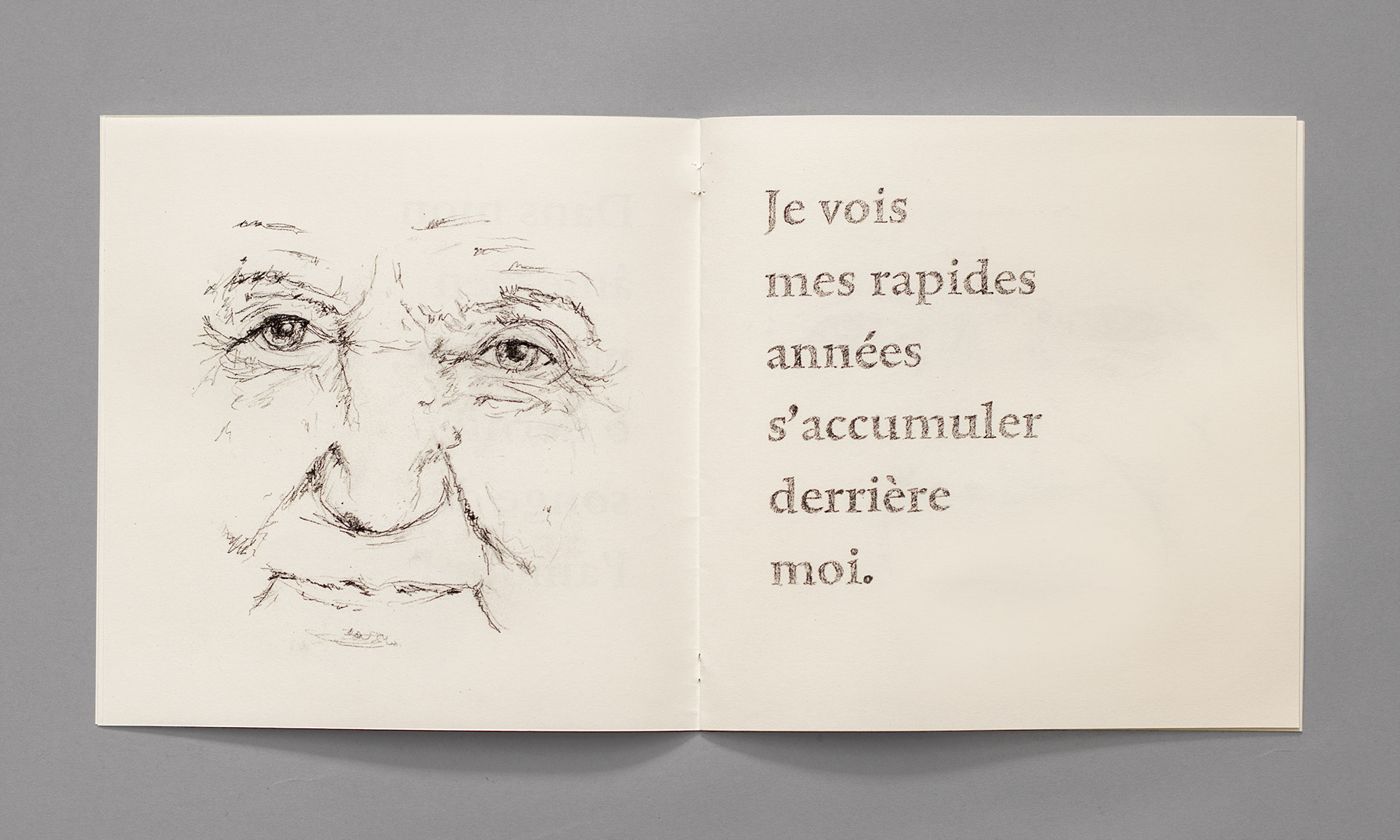 Poem, old man, illustration, face, old person, look, smile, expression, memories, souvenirs, book