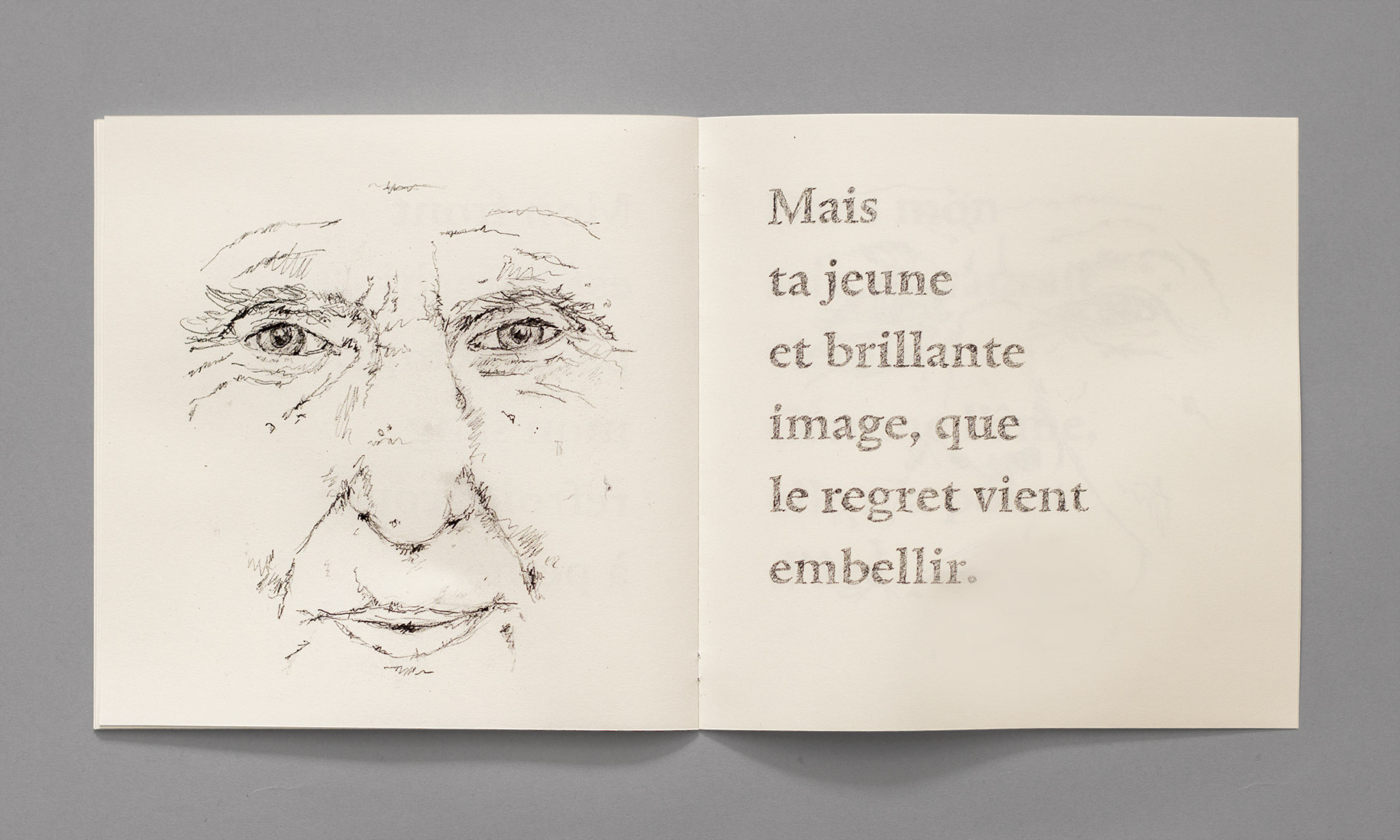 Poem, smiling face, drawing, elderly person, look, Alphonse de Lamartine, regret