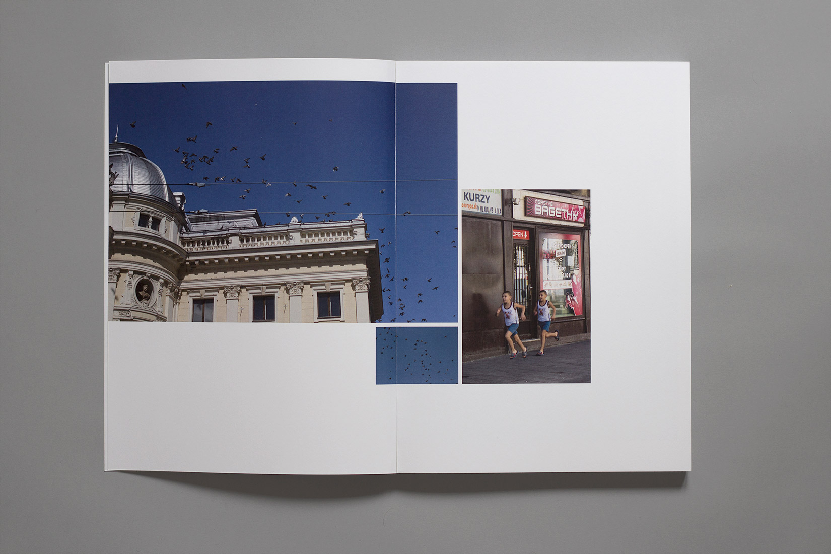Study trip, book, Bratislava, photography, child running