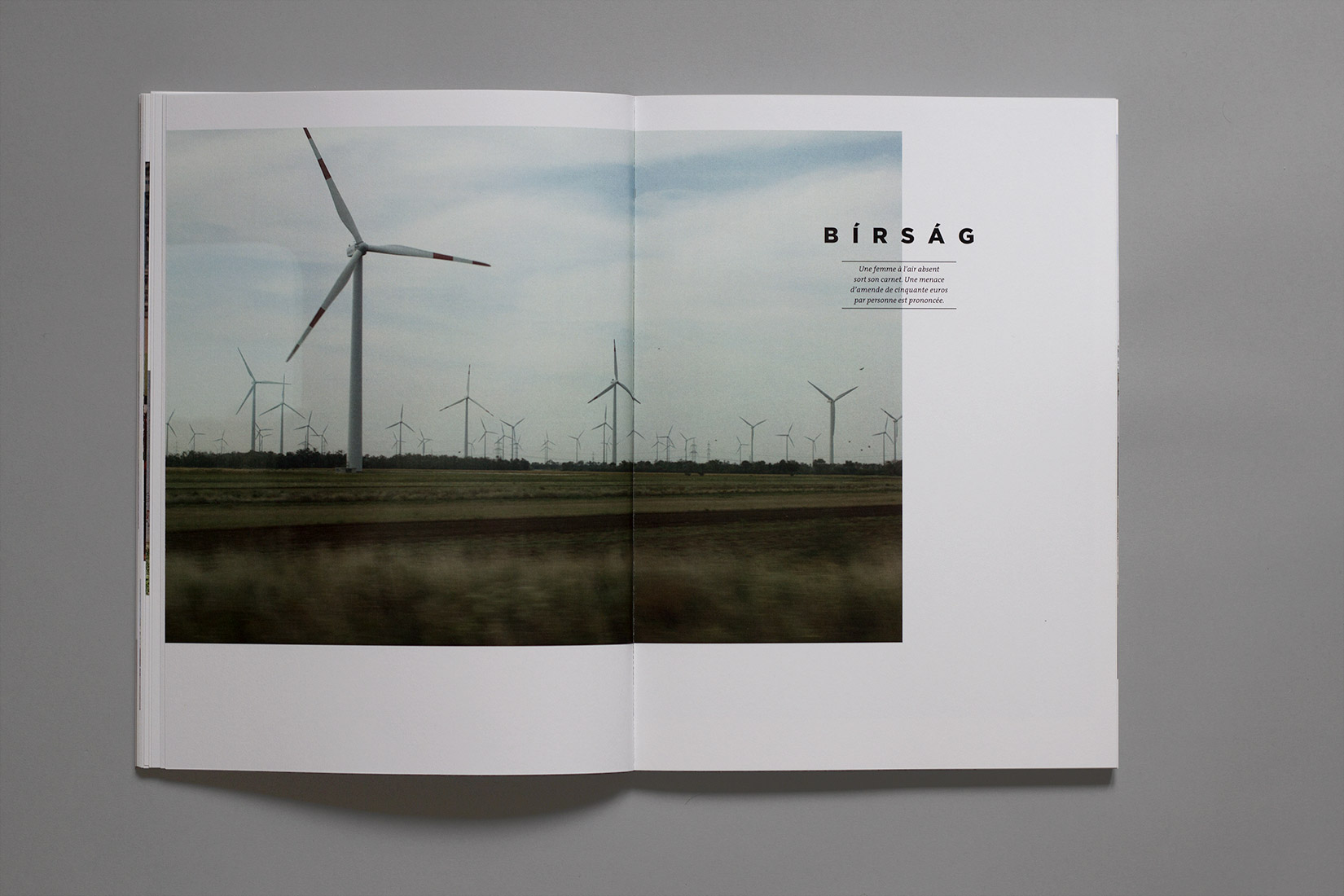 Study trip, book, train, wind turbines, field