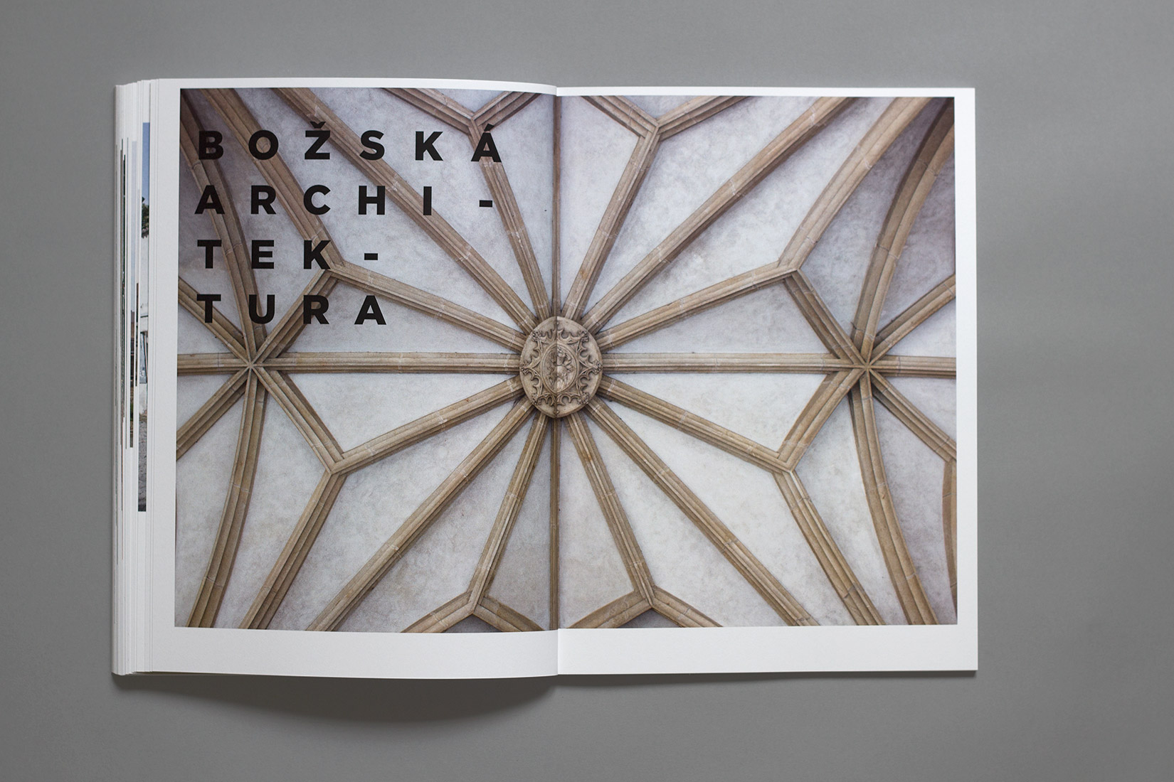 Study trip, book, Brno, architecture, geometry, Gotham, typography, typeface